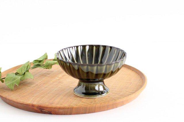 美濃焼 ぎやまん 高台デザート 利休(緑) 磁器 画像6