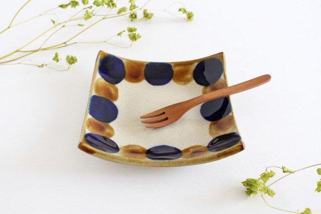 正角皿 輪 陶器 土工房 陶糸 やちむん