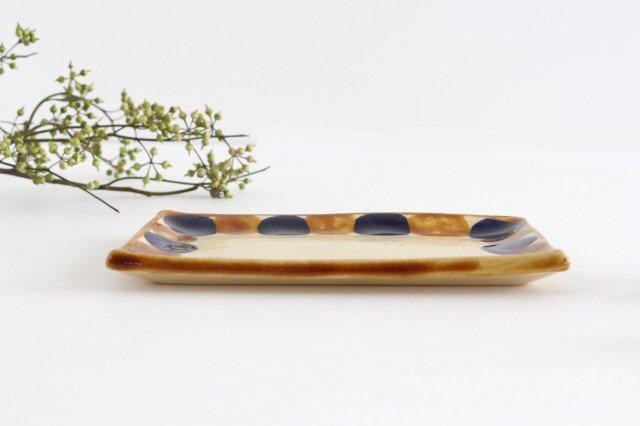 長方皿 小 輪 陶器 土工房 陶糸 やちむん 画像3