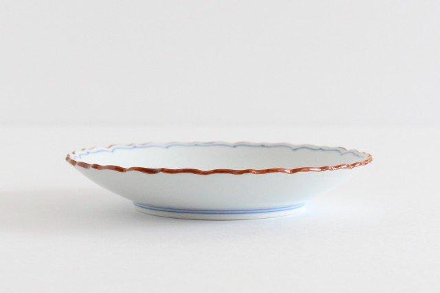 新桔梗5寸皿 渕錆 見込筋 青 磁器 波佐見焼 画像2
