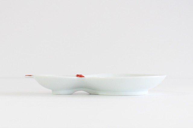 二品盛皿 ひさご 赤 磁器 波佐見焼 画像3