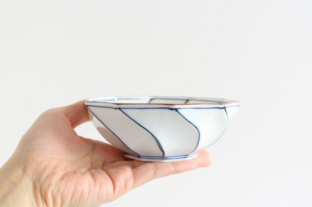ねじり小鉢 ねじり線 青 磁器 波佐見焼 画像3