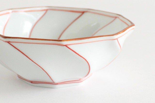 ねじり小鉢 ねじり線 赤 磁器 波佐見焼 画像6