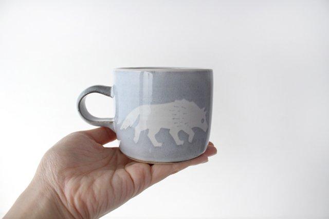 オオカミのマグカップ 陶器 ITOGA POTTERY 画像4