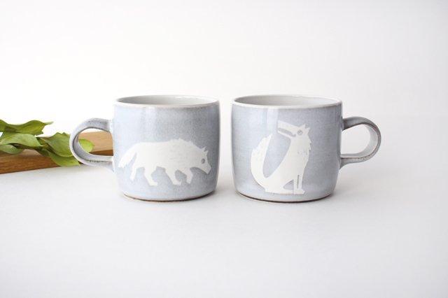 オオカミのマグカップ 陶器 ITOGA POTTERY 画像5