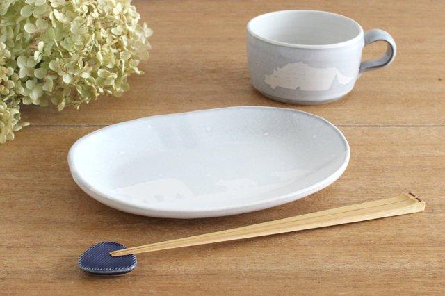 しろくまの楕円皿 陶器 ITOGA POTTERY 画像5