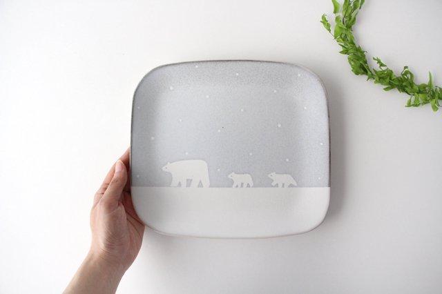 しろくまのプレート 陶器 ITOGA POTTERY 画像3