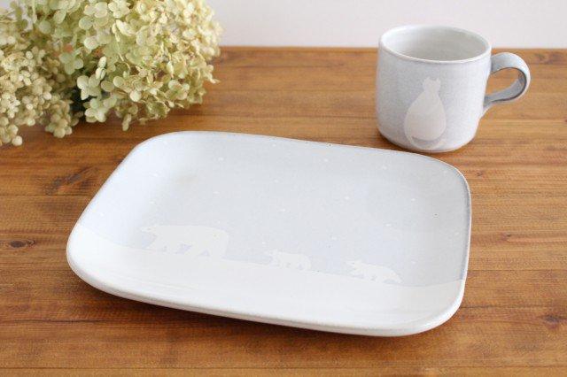 しろくまのプレート 陶器 ITOGA POTTERY 画像6