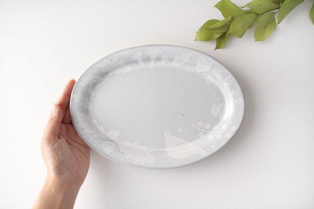 森のオーバルプレート 陶器 ITOGA POTTERY 画像4