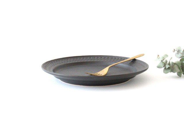 ブラック鎬 プレート L 陶器 中野明彦 画像2
