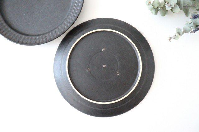 ブラック鎬 プレート L 陶器 中野明彦 画像3