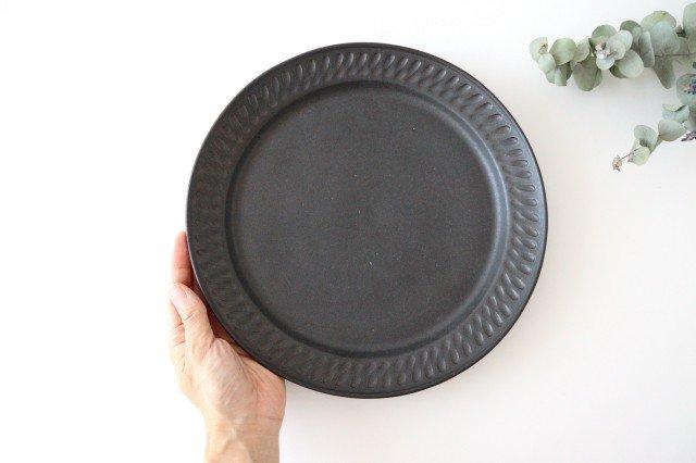ブラック鎬 プレート L 陶器 中野明彦 画像6
