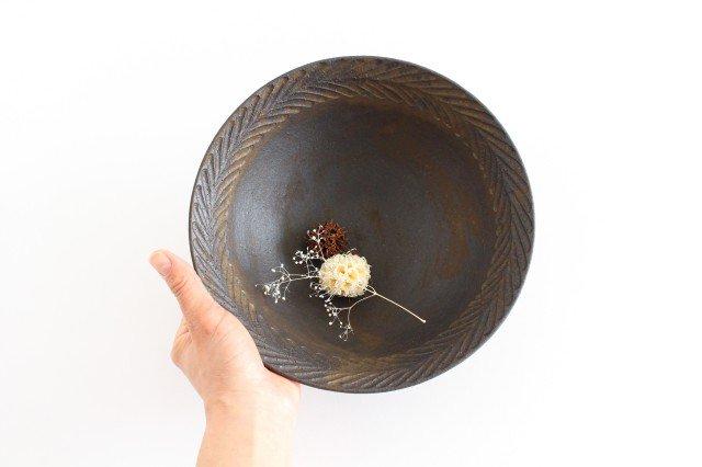 リース7寸鉢 GB 陶器 アトリエキウト 小出麻紀子 画像2