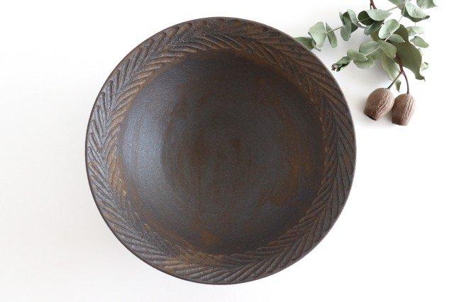 リース7寸鉢 GB 陶器 アトリエキウト 小出麻紀子 画像4