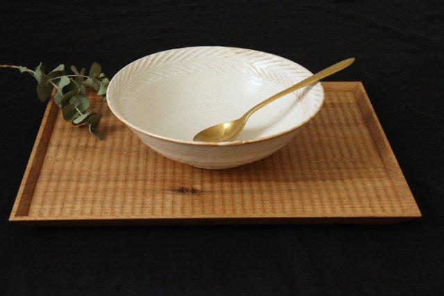 リース7寸鉢 ホワイト 陶器 アトリエキウト 小出麻紀子