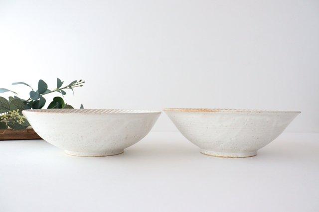 リース7寸鉢 ホワイト 陶器 アトリエキウト 小出麻紀子 画像3
