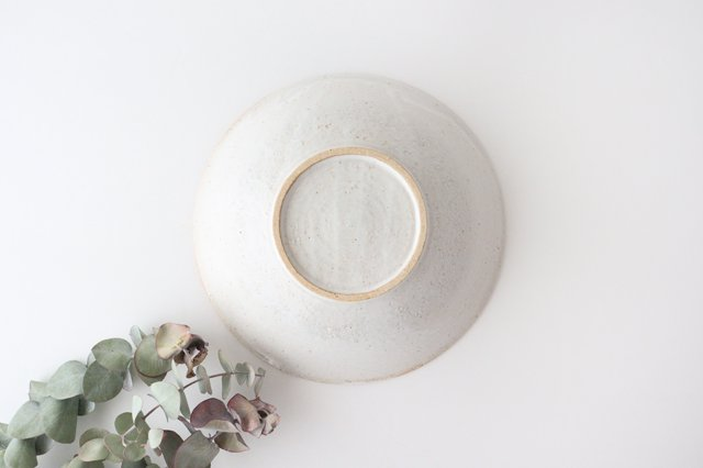 リース7寸鉢 ホワイト 陶器 アトリエキウト 小出麻紀子 画像5