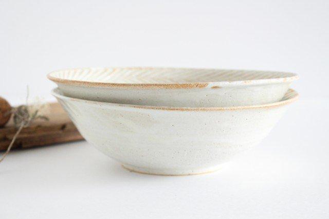 リース7寸鉢 ホワイト 陶器 アトリエキウト 小出麻紀子 画像6