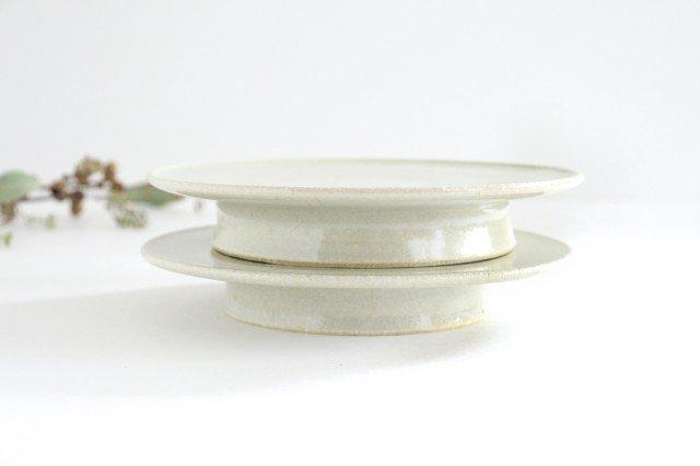 6寸コンポート皿 やわグレー 陶器 たくまポタリー 画像6