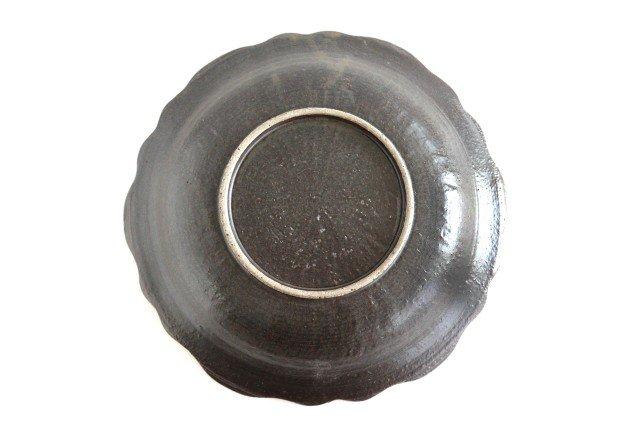 8寸皿 芙蓉 こげ茶 陶器 たくまポタリー 画像3