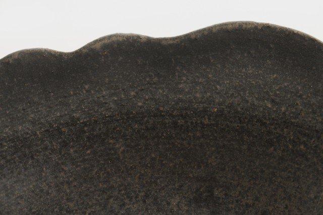 8寸皿 芙蓉 こげ茶 陶器 たくまポタリー 画像5