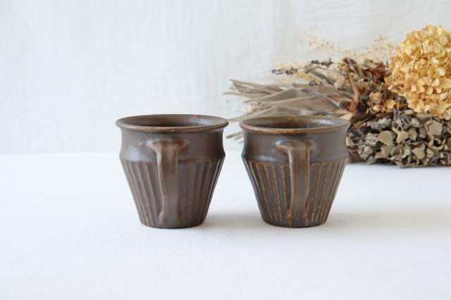 錆釉 しのぎマグ 陶器 古谷製陶所 画像5