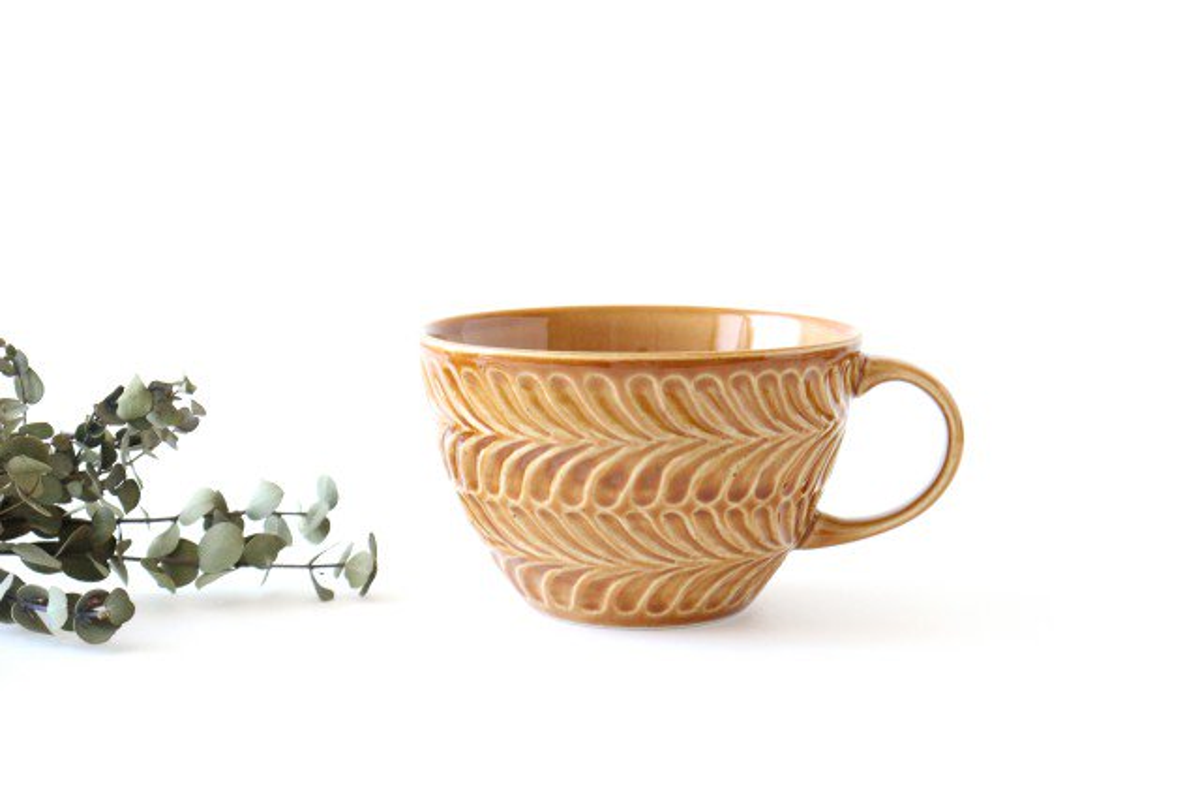 スープカップ 琥珀 陶器 ローズマリー 波佐見焼