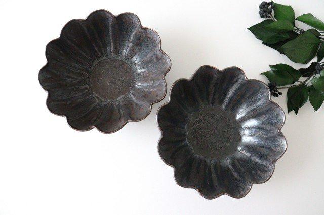 輪花深鉢 黒 半磁器 東月窯 久保 雅裕 画像2