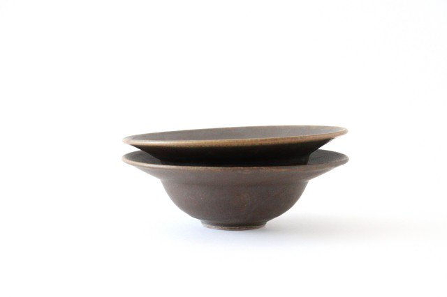 錆釉 リムボウル 大 陶器 古谷製陶所 画像3