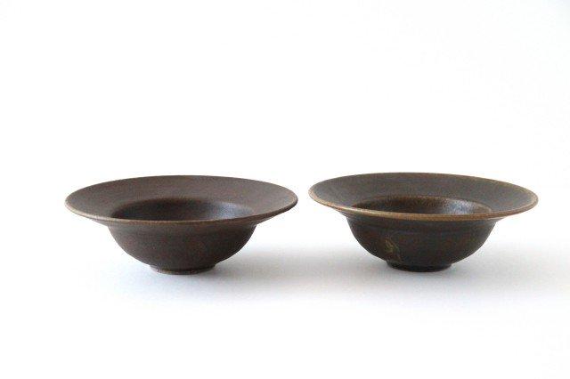 錆釉 リムボウル 大 陶器 古谷製陶所 画像5