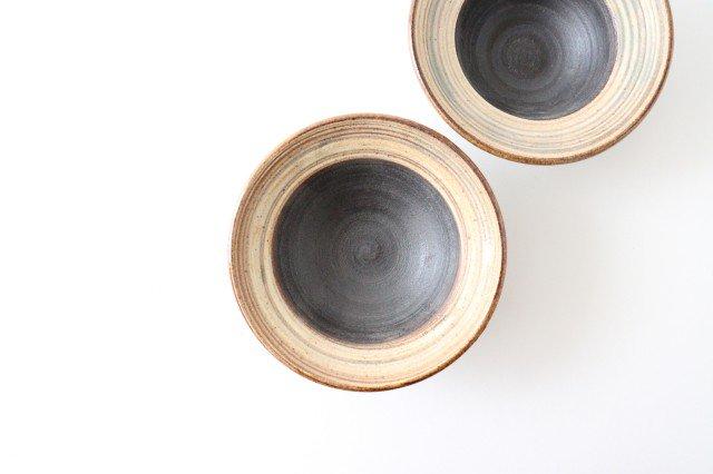 4寸平鉢 刷毛目 陶器 ツチノヒ やちむん