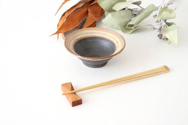 4寸平鉢 刷毛目 陶器 ツチノヒ やちむん 画像3