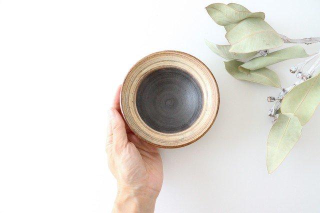 4寸平鉢 刷毛目 陶器 ツチノヒ やちむん 画像4