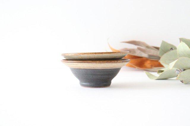 4寸平鉢 刷毛目 陶器 ツチノヒ やちむん 画像5