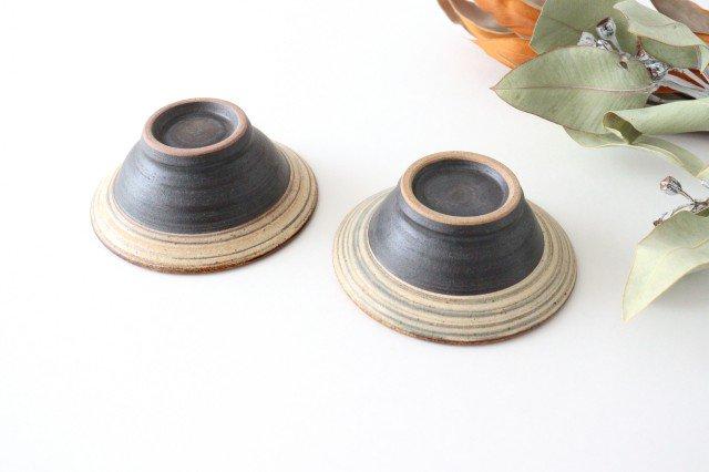 4寸平鉢 刷毛目 陶器 ツチノヒ やちむん 画像6