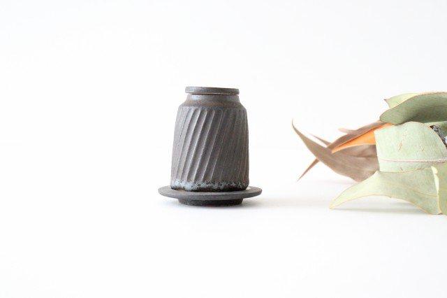 醤油差し しのぎ黒 陶器 ツチノヒ やちむん 画像3