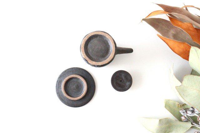 醤油差し しのぎ黒 陶器 ツチノヒ やちむん 画像6