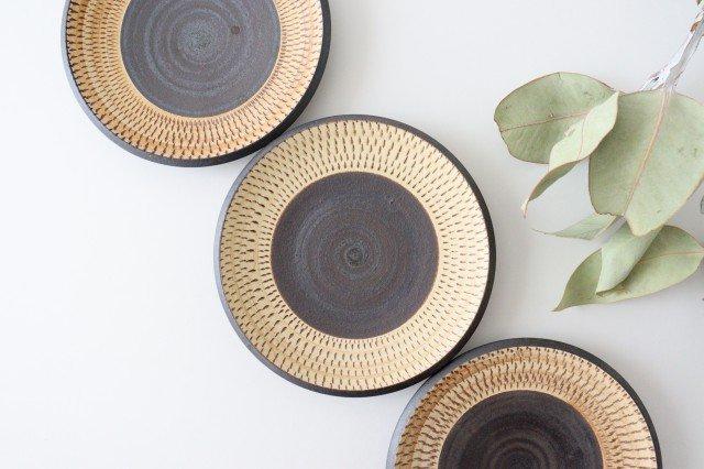5寸皿 トビカンナ 陶器 ツチノヒ やちむん