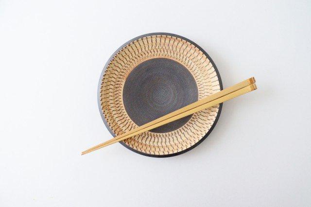 5寸皿 トビカンナ 陶器 ツチノヒ やちむん 画像2