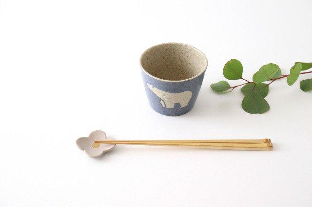 フリーカップ シロクマ 紺 陶器 苔色工房 田中遼馬 画像6