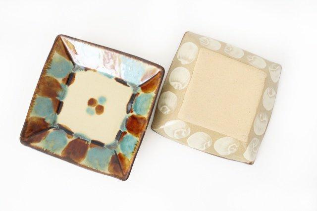 深角皿 三彩 陶器 エドメ陶房 やちむん 画像2