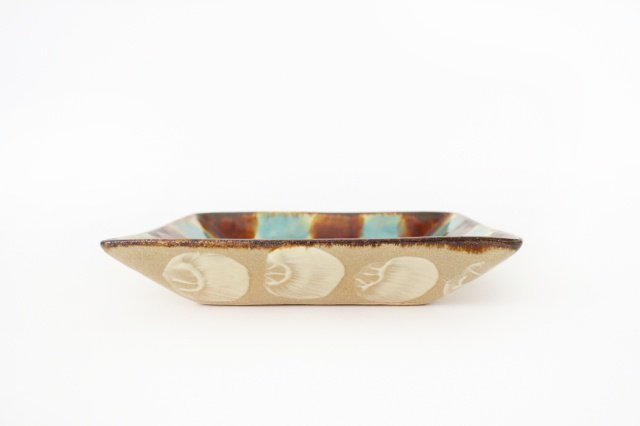 深角皿 三彩 陶器 エドメ陶房 やちむん 画像3