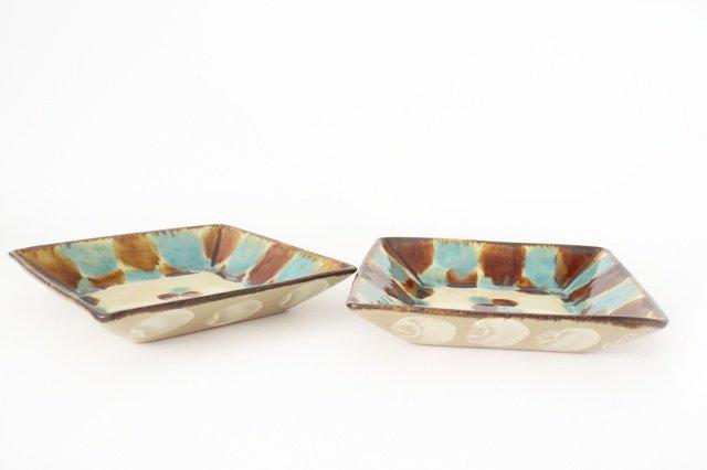 深角皿 三彩 陶器 エドメ陶房 やちむん 画像5
