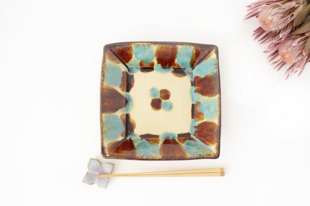 深角皿 三彩 陶器 エドメ陶房 やちむん 画像6