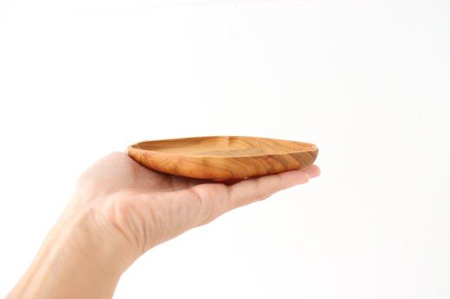 小皿 隅入菱 小 桜 四十沢木材工芸/KITO 画像4