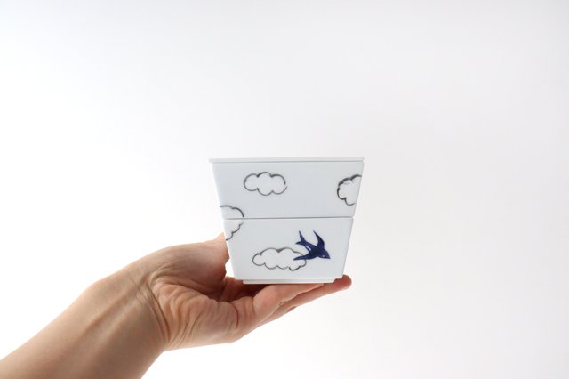 雲つばめ 二段重 磁器 波佐見焼 画像6
