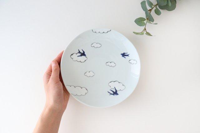 丸6寸皿 磁器 雲つばめ 有田焼 画像5