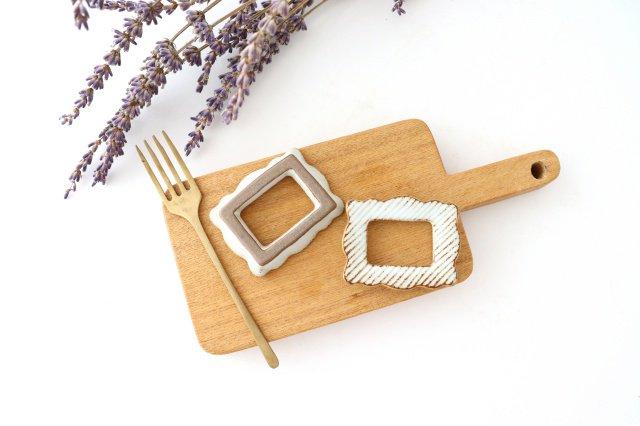frame カトラリーレスト 角 陶器 sen 波佐見焼 画像5