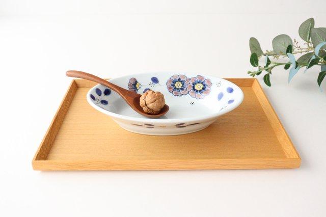 楕円鉢 花枝紋 磁器 有田焼 画像4