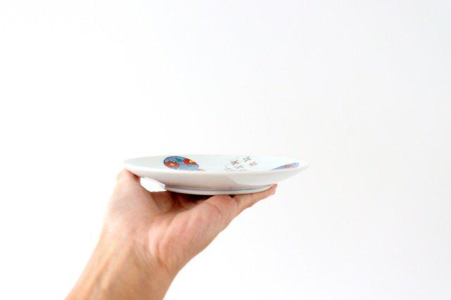 丸5寸取皿 伊万里瓢箪 磁器 有田焼 画像2